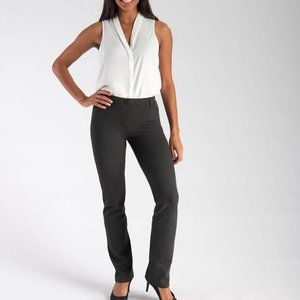 Betabrand women's classic dress pants in charcoal